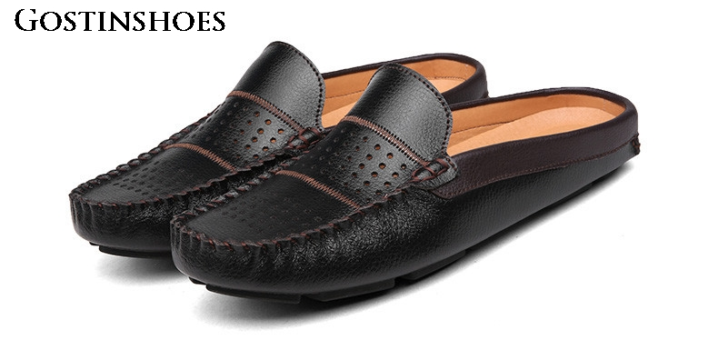 Summer Men Casual Shoes Moccasins Homme Slip On Zapatos Men Leather Mens Penny Loafers Luxury Brand
