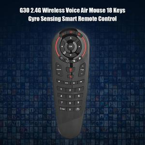Image 4 - G30 sinek hava fare sesli uzaktan kumanda 2.4G kablosuz klavye için USB alıcı ile kablosuz uçan sıçan 6 eksenli jiroskop sensörü
