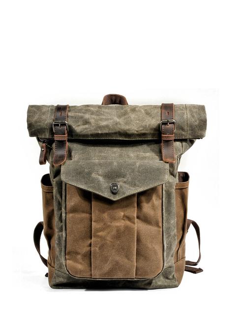 Luxury Vintage Canvas Backpack