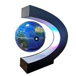 Globo de levitação magnética estudante escola equipamentos de ensino luz noturna globo criativo presentes 110/220 v ac fonte alimentação europeia