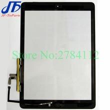 50 Uds reemplazo para ipad 5 Air 3 A1822 A1823 2017 Panel de Digitalizador de pantalla táctil con botón de inicio adhesivo montaje frontal vidrio