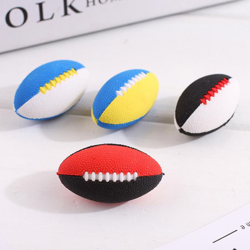 4 Pcs/set Cartoon Mini Sports Ball Rugby Rubber Pencil Erasers Removable Correction Eraser School Office Supplies Stationery