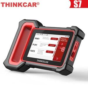 Image 1 - THINKCAR Thinkscan Plus S7 OBD2 Scanner Airbag BCM ECM TCM IC AC ABS System Oil DPF BAT ABS Reset Car Diagnostic OBD 2 Scanner