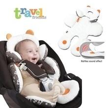 Детское портативное автомобильное сиденье, детская коляска, подушка для коляски, уплотненная мягкая коляска, подушка для коляски, подушка, двойное использование, регулируемая детская Автомобильная подушка