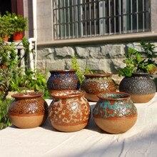 Handmade Ceramic Creative Korean Bubble Glaze Stoneware Fleshy Flower garden pots  ceramic pot