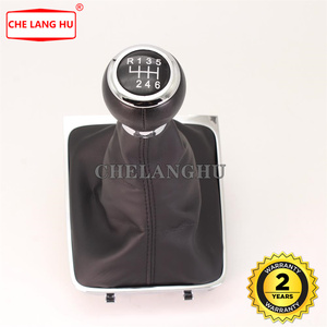 For VW Passat B6 Sedan 2006 2007 2008 2006 2010 Car-styling Manual 6 Speed Gear Stick shift knob Level leather Boot