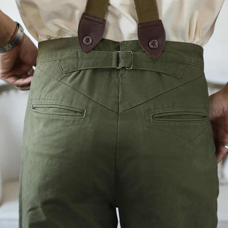 Pantalones De Pierna Recta De Tiro Alto Para Hombre Pantalon Rojo Tornado Retro Chino Vintage Pantalones Informales Aliexpress