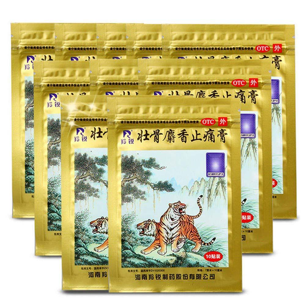 10Pc Strong Bones Musk Muscular Aches Pain Relief Plaster Chinese Traditional Medical Plaster Rheumatism Arthritis Sprains Patch