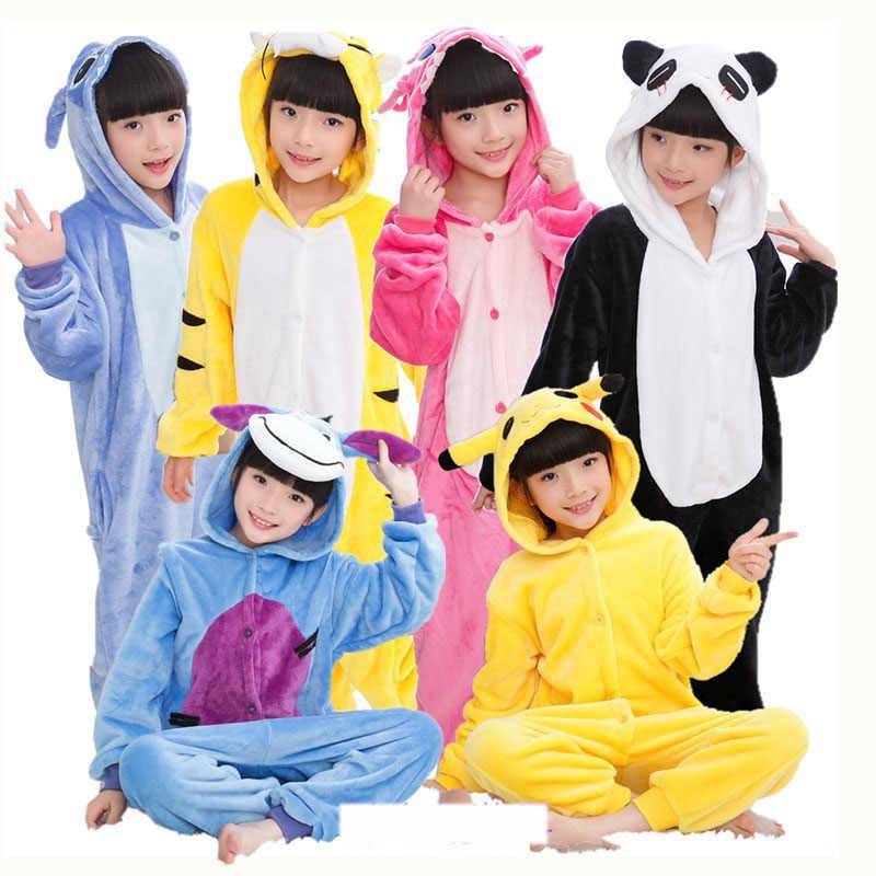 Kigurumi ponto crianças pijamas unicórnio pijamas para crianças animal dos desenhos animados cobertor do bebê traje de inverno menino menina licorne onesie