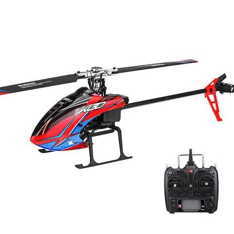 xk k130 2 4g 6ch sem escova 3d6g sistema flybarless rc helicoptero rtf compativel com