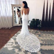 Современные очаровательные кружевные свадебные платья русалки