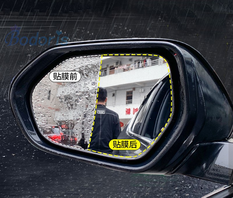 For <font><b>Toyota</b></font> <font><b>RAV4</b></font> 2014 2015 2016 2017 <font><b>2018</b></font> Rear View Mirror Water Rain-Proof Anti fog PVC Film Car Styling <font><b>Accessories</b></font> image