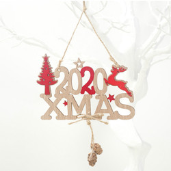 2020 Xmas Letters Elk Tree Wooden Sign Christmas Decoration for Home Pendant Hanging Ornament New 2
