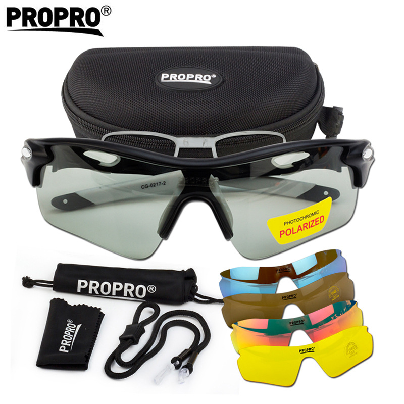 Propro Glasses For Riding Color Changing Polarized Light Bicycle Goggles Outdoor Sports Glasses Riding Equipment Card Myopia