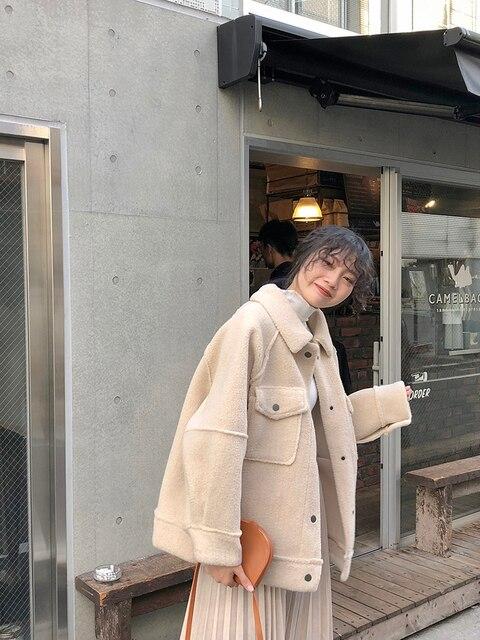 2020 début printemps anti peau de mouton manteau femme nouveau manteau en peluche en vrac chemise veste 4