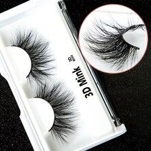 1pair 100% Real Mink Fur Natural Long False Eyelashes 3D Thick Eye Lashes Extension Full Strip Eyelash Makeup Tools