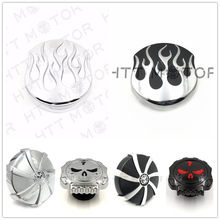 Aftermarket Free Shipping Motorcycle Parts Skull Fuel Gas Tank Cap Cover For Harley Davidson 1992-Up Sportster/1994-Up Road King