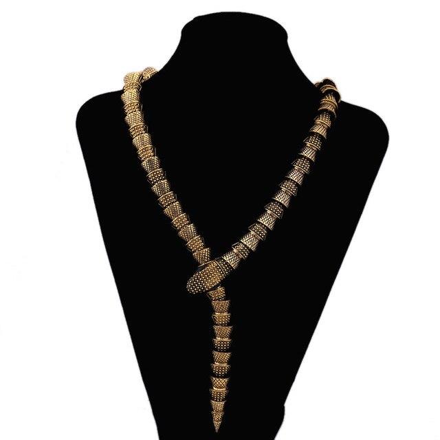 Купить женское винтажное колье чокер со змеиным плетением