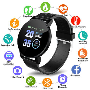 Smart Watch Blood Pressure Round Bluetooth Wrist watch Heart Rate Waterproof Sports Tracker With Alarm Clock for Android IOS 1 3 inch sports smart watch men s ip67 waterproof heart rate blood pressure sleep monitoring step tracker g50 for ios android