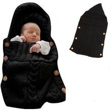 Newborn baby cute parcel blanket knit sleeping bag package for 0-6 months 2019
