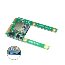 Mini PCI-E to USB 3.0 PCI Express Adapter Card Interface Converter Expansion Cards GV99 2 port super speed usb 3 0 pci e express interface card adapter for pc with bracket