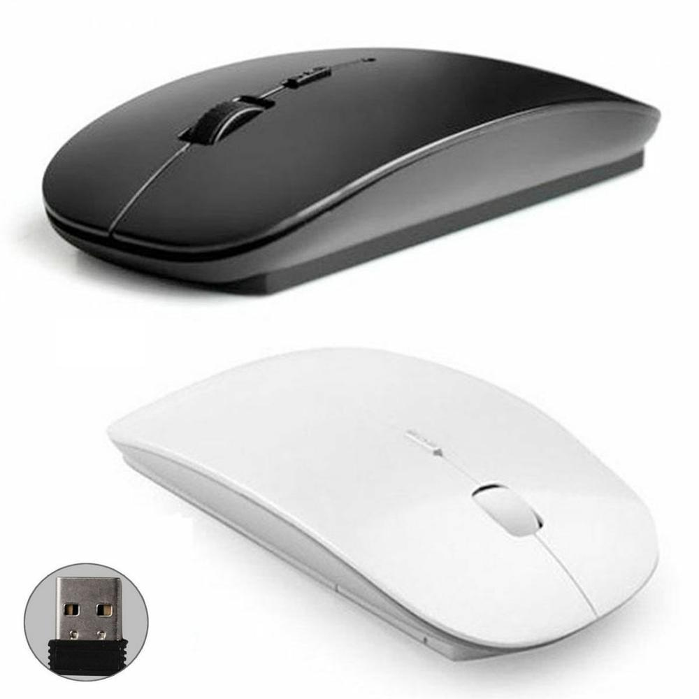 Ultra Slim 1600 DPI USB Optical Wireless Computer Mouse 2.4G Receiver Office Home Use Mouse For Apple Mac PC Laptop Mice