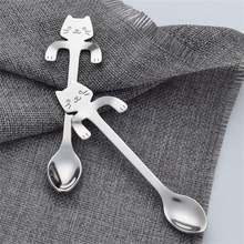 Glorystar с милым рисунком кота Нержавеющаясталь ручка висит