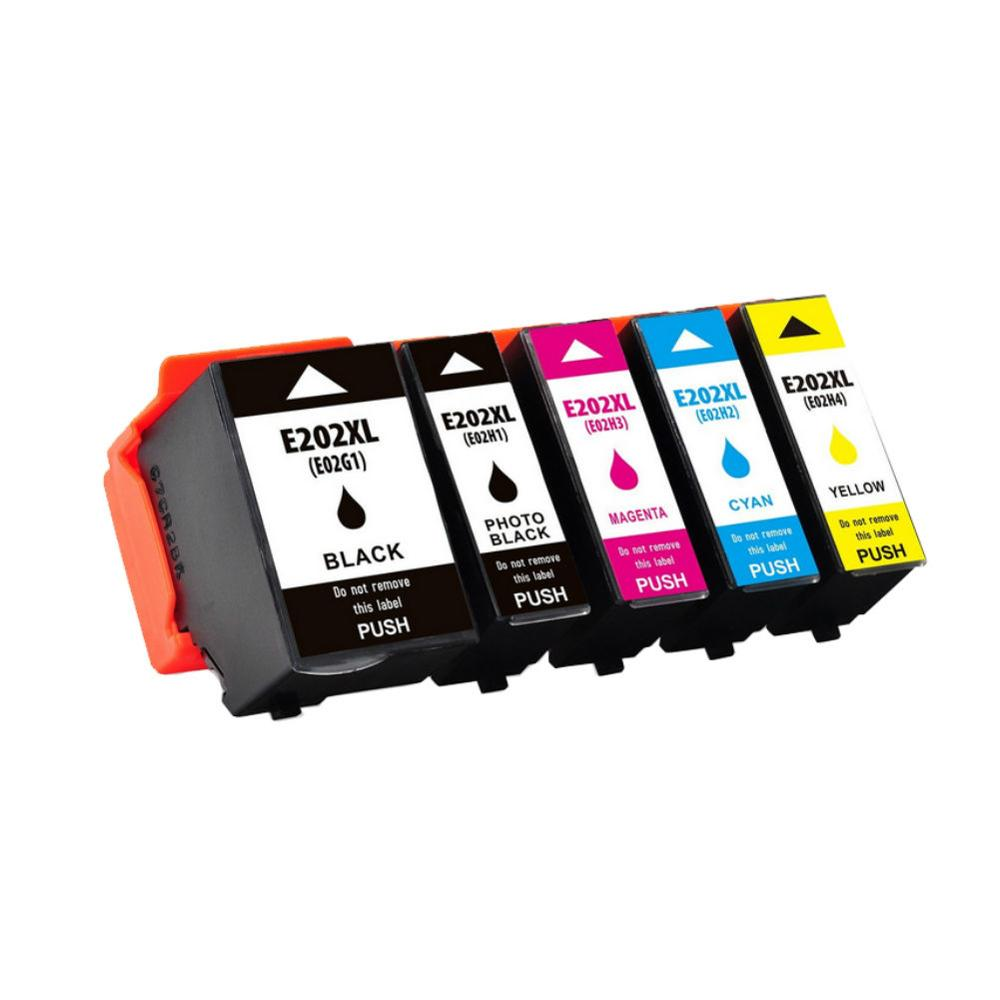 5 Slot Compatible Ink Cartridge for <font><b>Epson</b></font> 202 <font><b>202XL</b></font> <font><b>Epson</b></font> Expression Premium XP-6000, XP-6005 Printer image