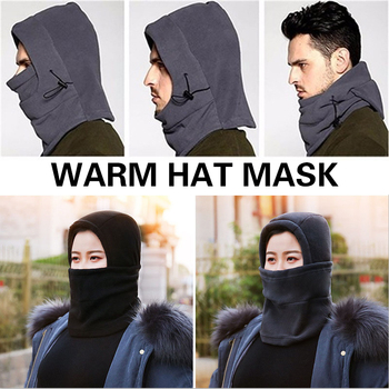 Cossack Cap Earflap Hat Trapper Snow Cap Ski Hat Unisex Winter Thermal Fleece Hats Windproof Cap Balaclava for Running Riding image