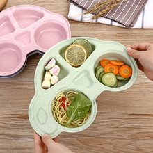 Kids Dinner Plate Divided Dish Tray Dessert Baby Food Feeding Tableware Food Tableware Dishes Eating Dinnerware Dinner Plate(China)