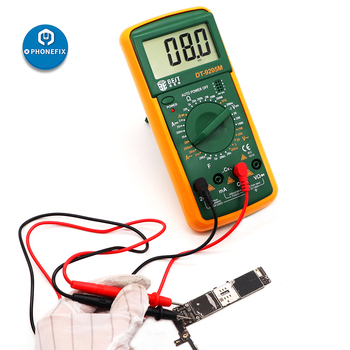 Phonefix液晶デジタルマルチメータデジタルテスターDT9205Mハンドヘルド大画面ブザーdmmメーター電話修理のためのテスト