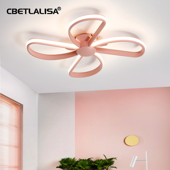 CBETLALISA.Chandelier in the nursery. led ceiling chandelier for bedroom, kitchen, blue/pink color, led ceiling lamp xiaomi