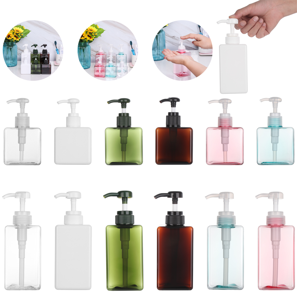 250/450ML Portable Travel Square Mousse Foaming Bottle Lotion Container Press Shower Cosmetic Colorful Hand Soap Dispenser