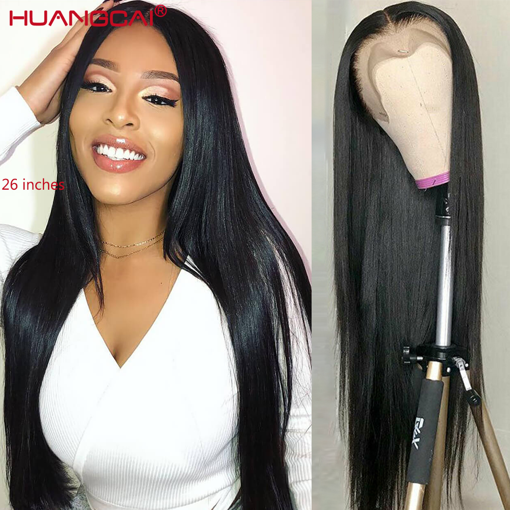 13*1 Lace Part Wig Straight Human Hair Wig For Women 150% Brazilian Remy Hair Human Hair Wig Deep Middle Part Lace Wigs