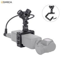 Comica CVM MT06 XY סטריאו מיקרופון Cardioid הקבל פעולה מצלמה וידאו מיקרופון עבור DJI אוסמו כיס (3.5MM TRS)