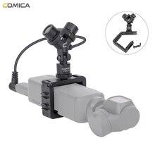 Comica CVM MT06 XY Stereo Mikrofon Nieren Kondensator Action Kamera Video Mic für DJI Osmo Tasche (3,5 MM TRS)