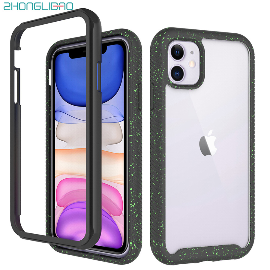 Anti Knock Case for IPhone 11 Pro Max 11 7 8 6S 6 Plus XS Max XR X Silicone Bumper Armor Clear Back Cover Heavy Duty Protection(China)
