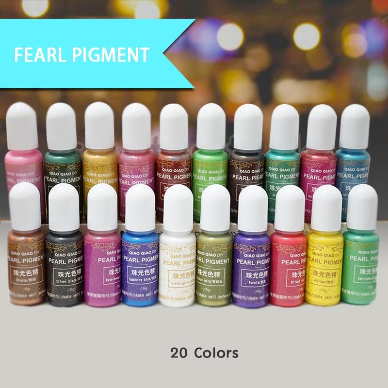 QIAOQIAO DIY 15g/Bottle Pigment Epoxy UV Resin DIY Handmade Art Crafts Coloring Dye Colorant