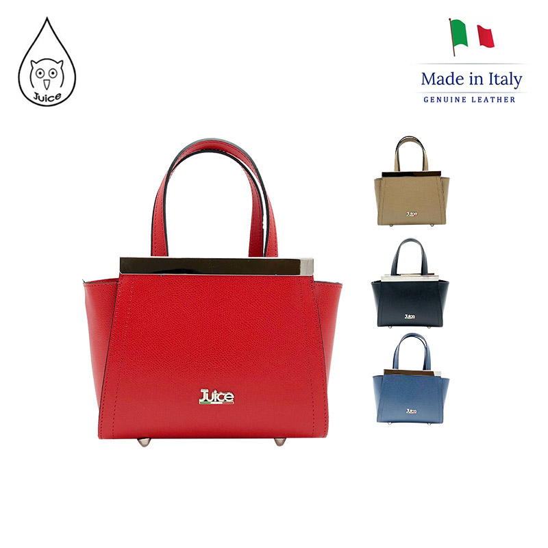 JUICE ,made In Italy, Genuine Leather, Women Bag,handbag,saffiano Printed Leather  112168.412