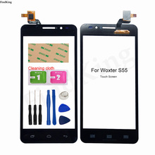 5.5'' Mobile Touch Screen For Woxter S55 Touch Panel Lens Sensor Digitizer Front Glass Tools 3M GLue