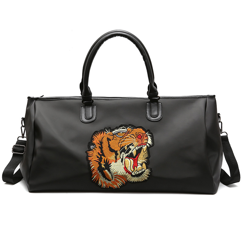 2017 New Style Embroidery Tiger Head Travel Bag Street Oxford Cloth Waterproof Gym Bag Women's Sports Single-shoulder Bag