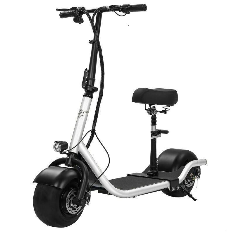 Scooter électrique vélo deux roues Scooter électrique 36V 350W moto Portable intelligent électrique Citycoco Scooter avec siège