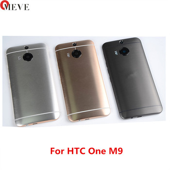 10pcs/lot Original Rear Back Housing For HTC One M9 Back Cover Battery Door with Camera Lens Replacement parts