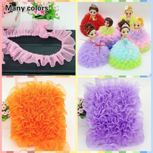 Organza Crumpled Ruffled Tulle Lace DIY Children's Toy Doll Clothes Hat Dress Pet Bib Baby Crib Clothing Fluffy Skirt Hem Trim(China)