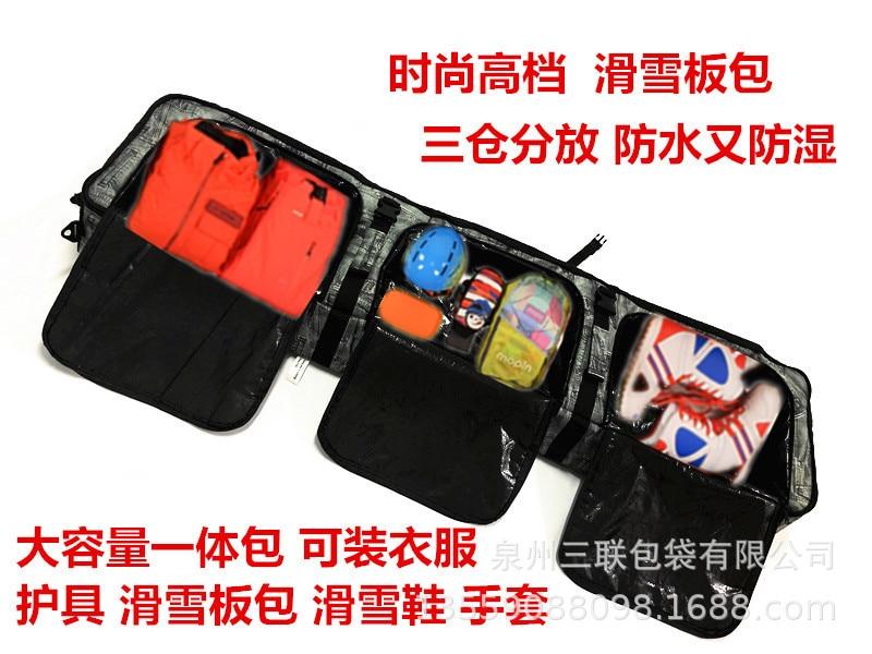 Snowboard Hua Xue Ban Bao With Wheels Grunt Skiing Boots Fixed Device Bag Shoulder Hand Consign Shuang Ban Bao