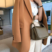 No Buckle Chic Suit Women's Jacket 2020 Spring and Autumn New Mid-length Leisure