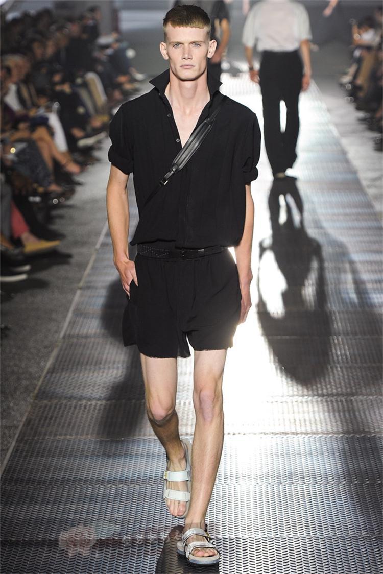 Yu Wenle Summer Large Size Hair Stylist Tide Men's Shorts Short Sleeve Jumpsuit Jumpsuit Overalls Slim