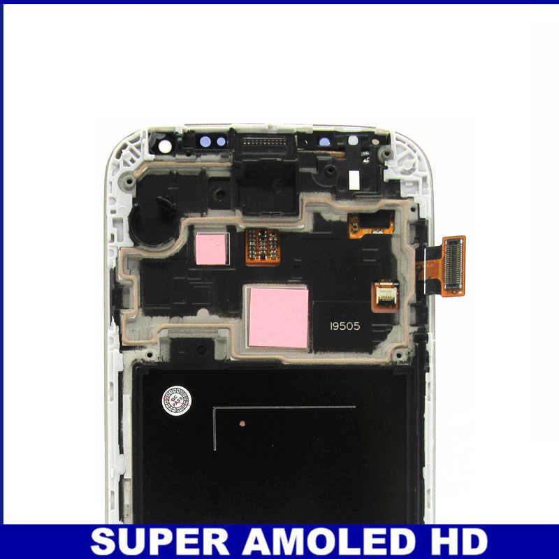 لسامسونج غالاكسي S4 i9505 AMOLED شاشة الكريستال السائل مجموعة المحولات الرقمية لشاشة تعمل بلمس مع الإطار الحافة شاشات الكريستال السائل استبدال الزجاج المقسى