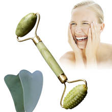 Real Natural Beauty Face Thining Tools New Double Head Facial Massage Roller Nec