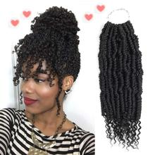 "14"" Pre-looped Fluffy Bomb Twists Spring Passion Synthetic Bomb Twist Crochet Hair Extensions Pre looped Fluffy Braiding Hair"